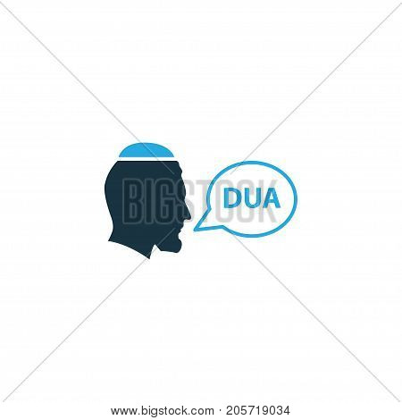 Premium Quality Isolated Dua Element In Trendy Style.  Beg Colorful Icon Symbol.