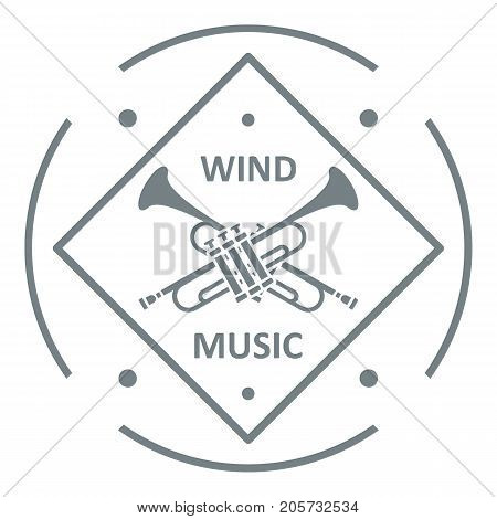 Musical trumpet logo. Simple illustration of musical trumpet vector logo for web