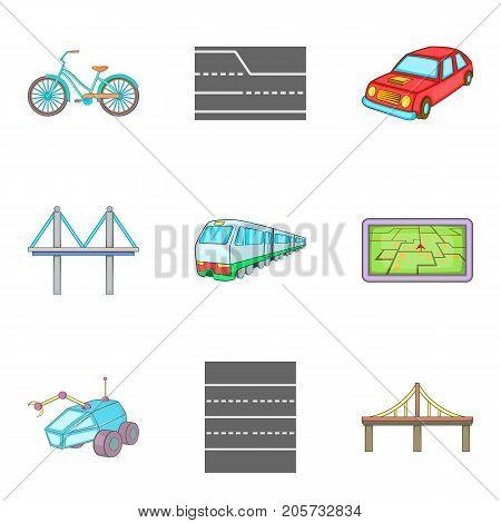 Heading icons set. Cartoon set of 9 heading vector icons for web isolated on white background