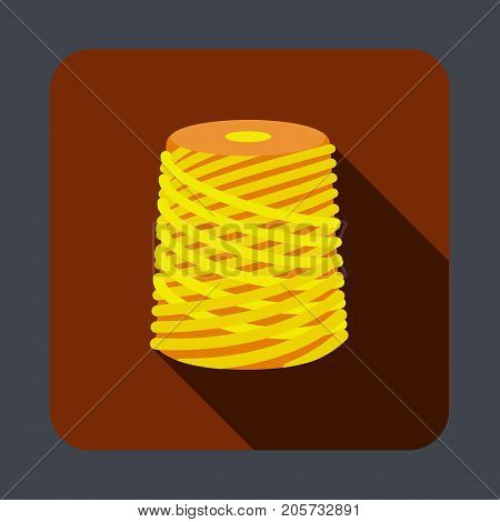 Thread concept background. Cartoon illustration of thread vector concept background for web design