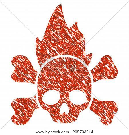 Grunge Hellfire rubber seal stamp watermark. Icon hellfire symbol with grunge design and dirty texture. Unclean vector red sign.
