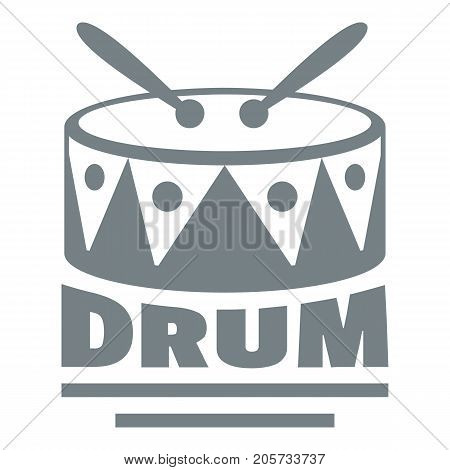 Drum logo. Simple illustration of drum vector logo for web