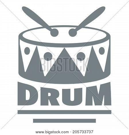 Drum logo. Simple illustration of drum vector logo for web