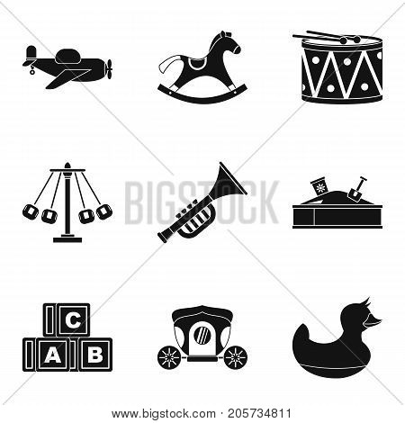 Gaud icons set. Simple set of 9 gaud vector icons for web isolated on white background