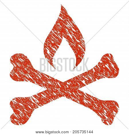 Grunge Mortal Ignition rubber seal stamp watermark. Icon mortal ignition symbol with grunge design and dirty texture. Unclean vector red sign.