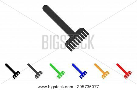 Broom icon. Vector illustration style is a flat iconic broom symbol with black, gray, green, blue, red, orange color versions. Designed for web and software interfaces.