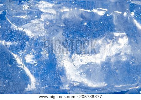 abstract background of blue ice . Photo of an abstract texture