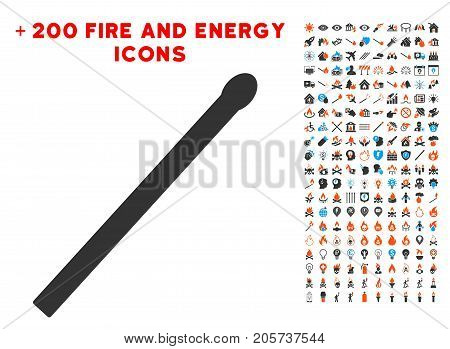 Match icon with bonus flame pictures. Vector illustration style is flat iconic elements for web design, app user interface.