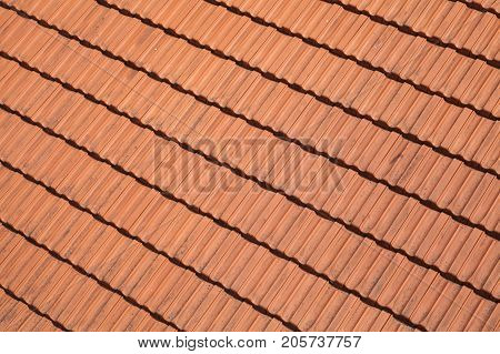 Traditional Red Roof Tiling, Background Photo