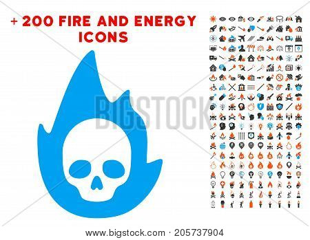 Mortal Flame pictograph with bonus power pictures. Vector illustration style is flat iconic symbols for web design, application user interface.