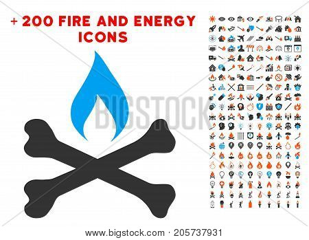 Mortal Ignition icon with bonus energy clip art. Vector illustration style is flat iconic symbols for web design, app user interface.