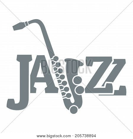 Saxophone logo. Simple illustration of saxophone vector logo for web