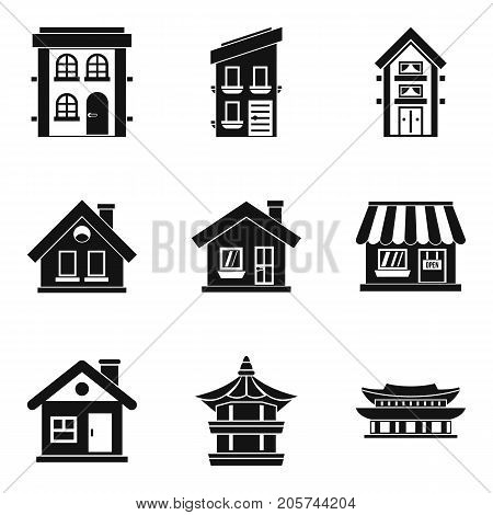 Abode icons set. Simple set of 9 abode vector icons for web isolated on white background