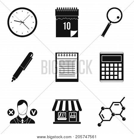 Financial prosperity icons set. Simple set of 9 financial prosperity vector icons for web isolated on white background