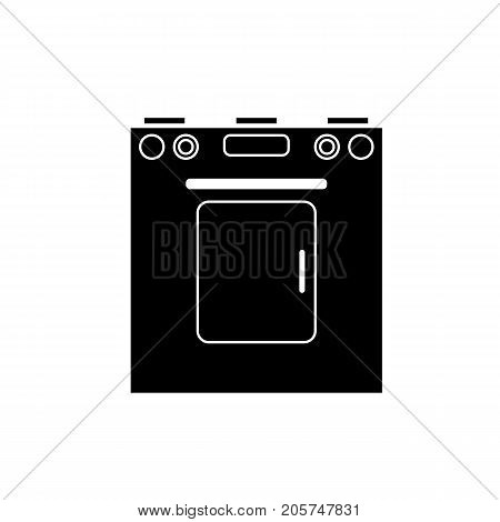 Icon of a washing machine black on a white background