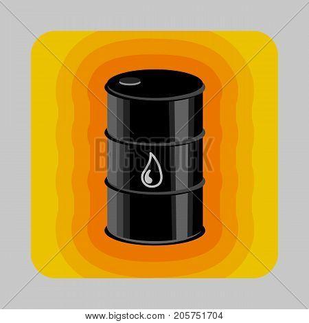 Petrol energy concept background. Cartoon illustration of petrol energy vector concept background for web design