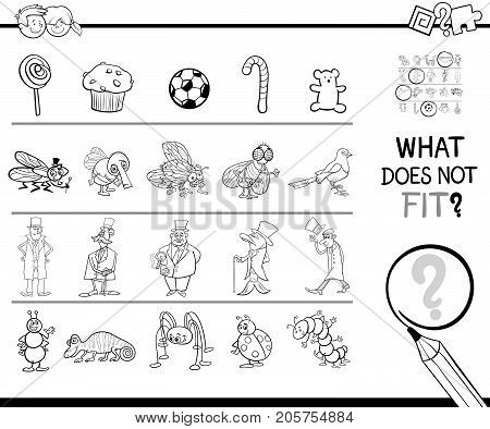 Not Fitting Picture Game Coloring Page