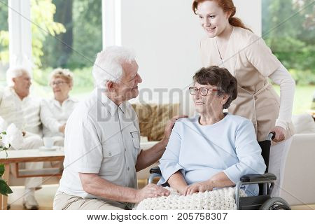 Man Visiting His Wife