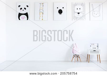 Room With Autistic Kid Drawings