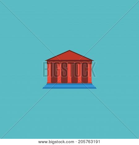 Flat Icon Academy Element. Vector Illustration Of Flat Icon Courthouse Isolated On Clean Background