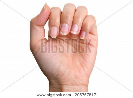 fingernail lack of nutrients and do not make nail not shape and not care this image can be use for health care concept