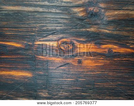Knot hole on a a beautiful wood plank makes a pretty background and texture.