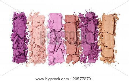 Multicolored Crushed Eyeshadow For Makeup As Sample Of Cosmetic Product