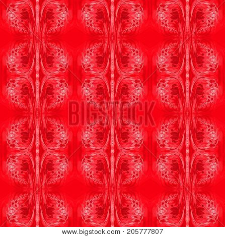 Abstract geometric seamless background. Regular ornaments in pink and red shades, ornate and dreamy.