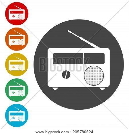 Radio symbol Vector, Simple Radio Icon Vector