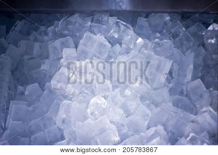 Pile of Ice Ready in a Ice Machine