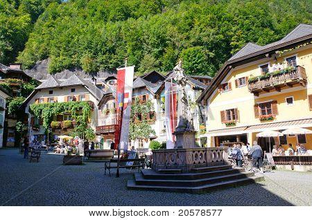 Market Square - Hallstatt, Salzkammergut, Austria