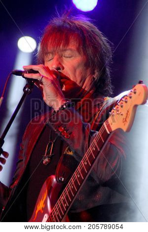 Richie Sambora performs at the 10th Annual Scott Medlock-Robby Krieger All-Star Concert benefiting St. Jude Children's Research Hospital at Saddlerock Ranch in Malibu, CA on Aug. 27, 2017.