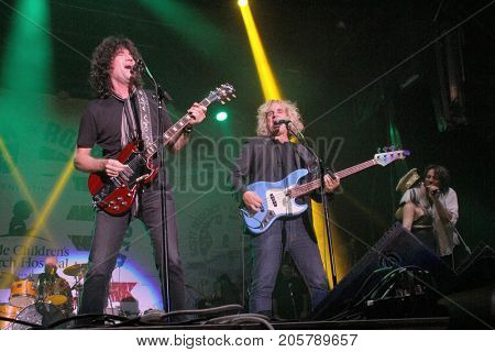 Tommy Thayer and others perform at the 10th Annual Scott Medlock-Robby Krieger All-Star Concert benefiting St. Jude Children's Research Hospital at Saddlerock Ranch in Malibu, CA on Aug. 27, 2017.