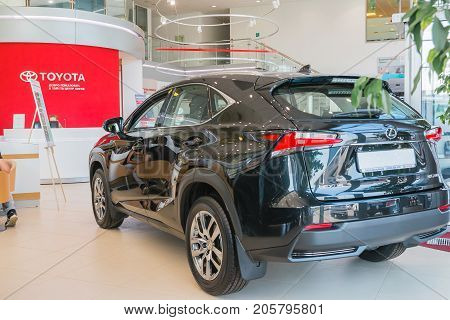 Showroom And Car Of Dealership Toyota In Kirov City In 2016