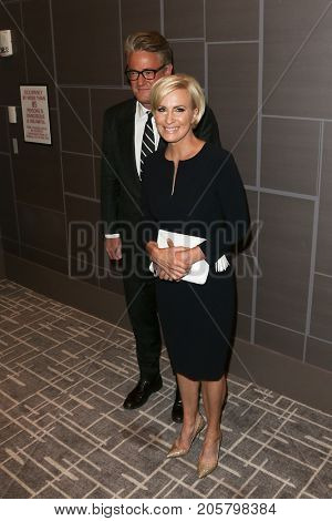 NEW YORK-SEPT 08: Journalists Joe Scarborough and Mika Brzezinski attend Daily Front Row's Fashion Media Awards at Four Seasons Hotel New York Downtown on September 8, 2017 in New York City.