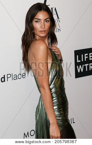 NEW YORK-SEPT 08: Model Lily Aldridge attends Daily Front Row's Fashion Media Awards at Four Seasons Hotel New York Downtown on September 8, 2017 in New York City.