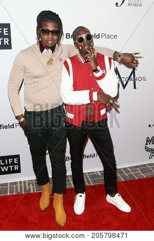 NEW YORK-SEPT 08: Trinidad James (L) and Young Paris attend Daily Front Row's Fashion Media Awards at Four Seasons Hotel New York Downtown on September 8, 2017 in New York City.