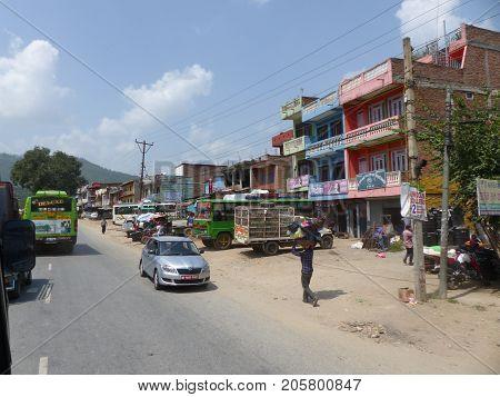 Traffic On The Periphery Of Kathmandu