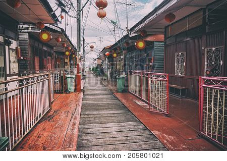 Heritage stilt houses of the Chew Clan Jetty, George Town, Penang