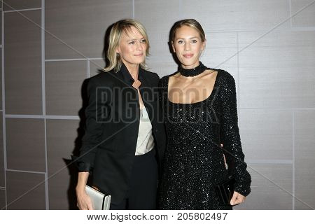 NEW YORK-SEPT 08: Actress Robin Wright (L) and daughter Dylan Penn attend Daily Front Row's Fashion Media Awards at Four Seasons Hotel New York Downtown on September 8, 2017 in New York City.