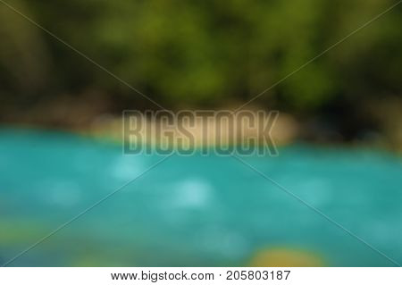 Landscape of a mountain river with drinking water in the Caucasus, fed from a glacier. The concept of natural clean and potable water. North Caucasus