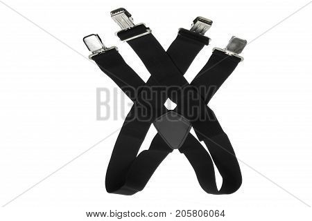 Pair of Trouser Braces on White Background