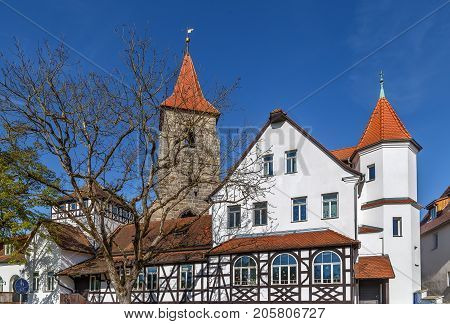 Tower of St. Leonhard Church in Lauf an der Pegnitz Germany