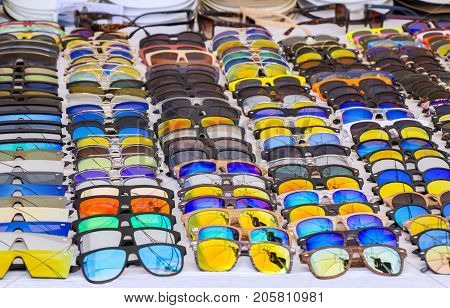 Colorful Sunglasses for sale at street market