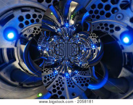 Blue Light Polar Fractal
