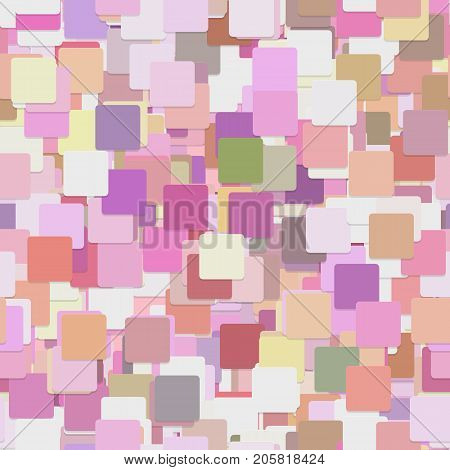 Seamless chaotic square pattern background - vector graphic design from colorful squares with shadow effect