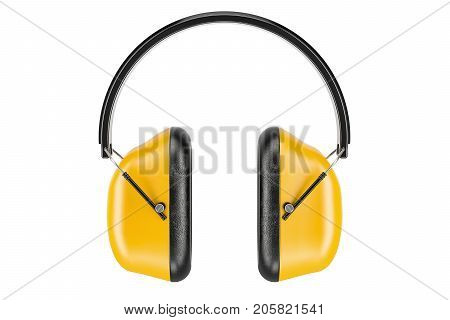 Standard Ear Defenders 3D rendering isolated on white background