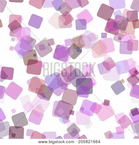 Purple repeating abstract geometrical square pattern background - vector illustration from random rotated squares with opacity effect