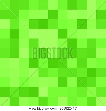 Geometrical abstract square mosaic background - vector design from squares in green tones