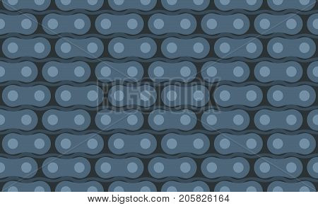 Motorcycle chain. Seamless vector pattern in dark colors